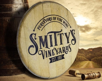 "21"" Barrel Top Wood Sign"