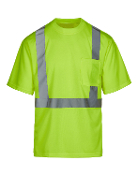 Class 2 Safety Green Short Sleeve T-shirt (MAX401)