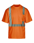 Class 2 Safety Orange Short Sleeve T-Shirt (MAX402)