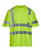 Class 3 Safety Green Short Sleeve T-Shirt (MAX470)