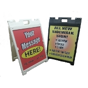 A-frame Sidewalk sign - Medium Size Deluxe
