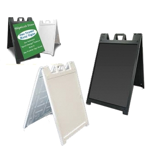 A-frame Sidewalk sign - Signicade Deluxe with 2 Custom Signs