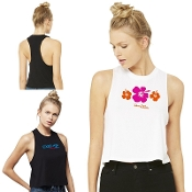 Bella+Canvas® Women's Racerback Cropped Tank