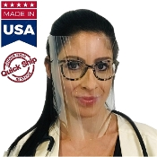 Face Shield w/ Adjustable Headband Safety Shields (Reusable)